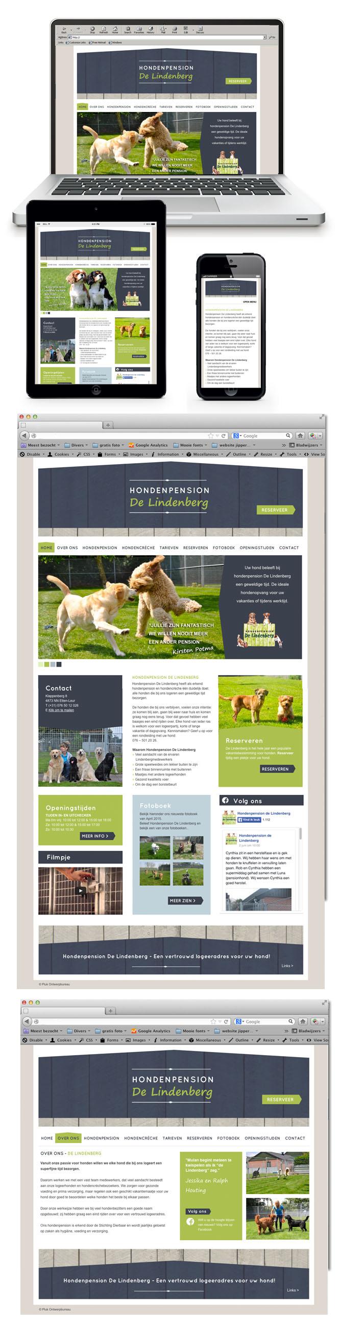 Website Hondenpension De Lindenberg