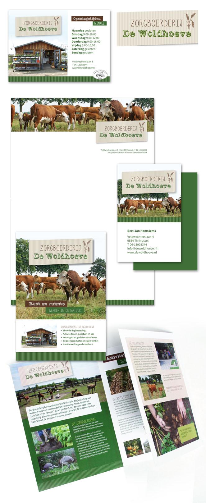 Huisstijl Zorgboerderij De Woldhoeve