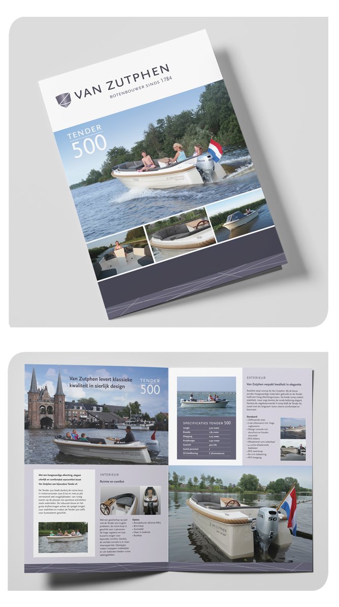 Brochure Van Zutphen botenbouwers