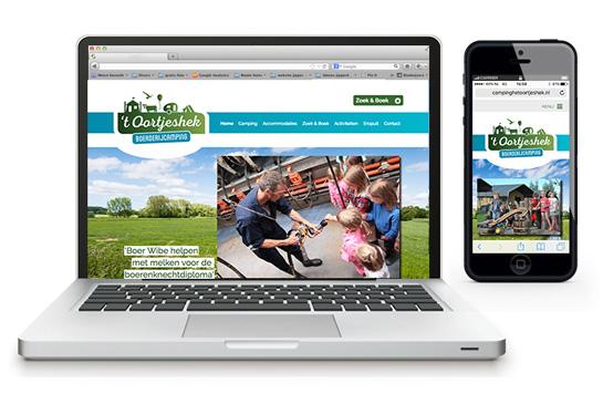 Website en logo Camping 't Oortjeshek