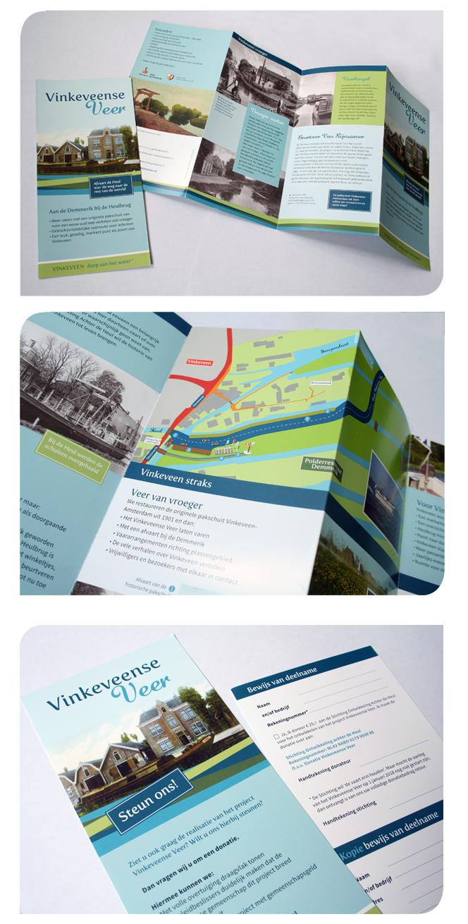Promotie folder Vinkeveense Veer