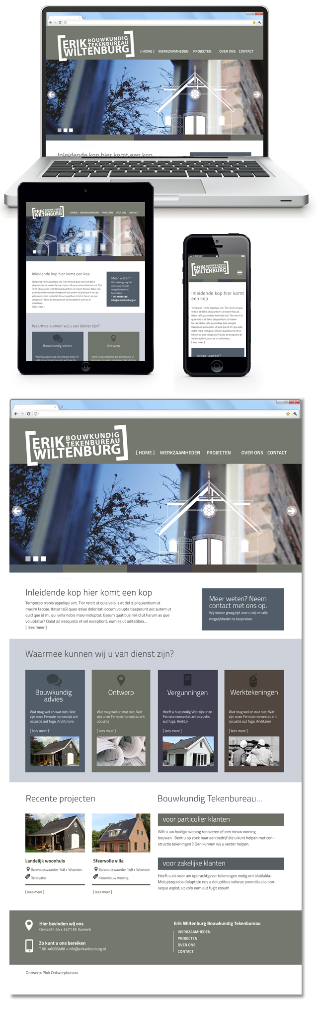 Website Erik Wiltenburg Bouwkundig Tekenbureau