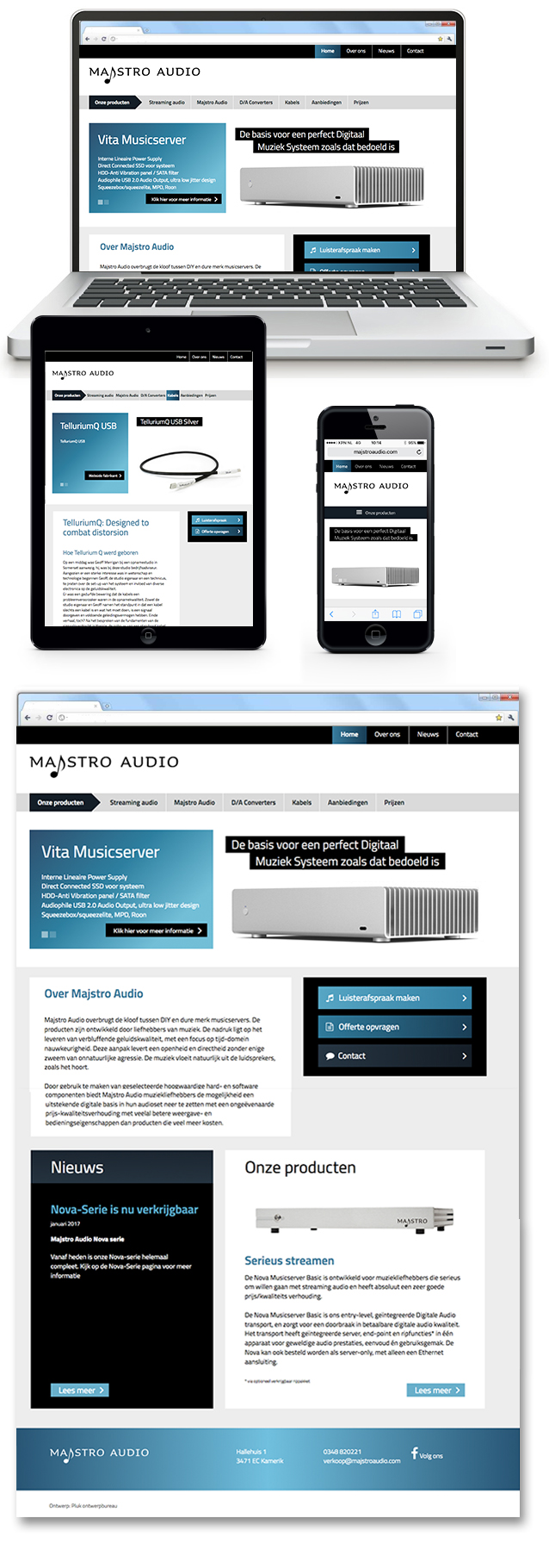 Website Majstro Audio