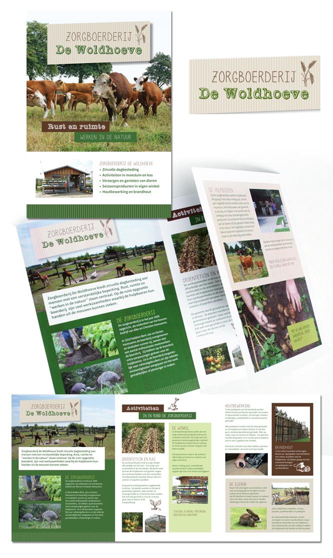 Folder Zorgboerderij De Woldhoeve